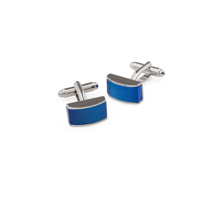 Rectangular Royal Blue Crystal Cufflinks