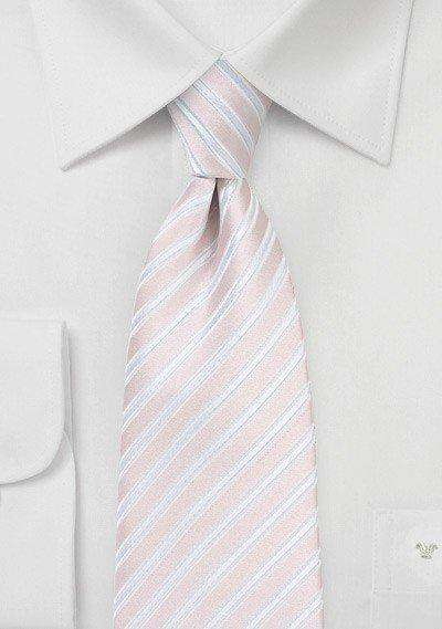 Blush Summer Striped Necktie - Men Suits