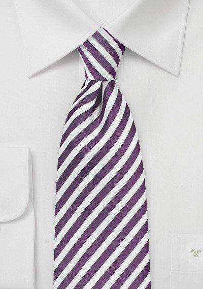 Grape Summer Striped Necktie