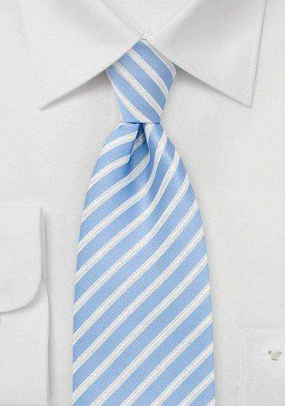 Blue Summer Striped Necktie - Men Suits