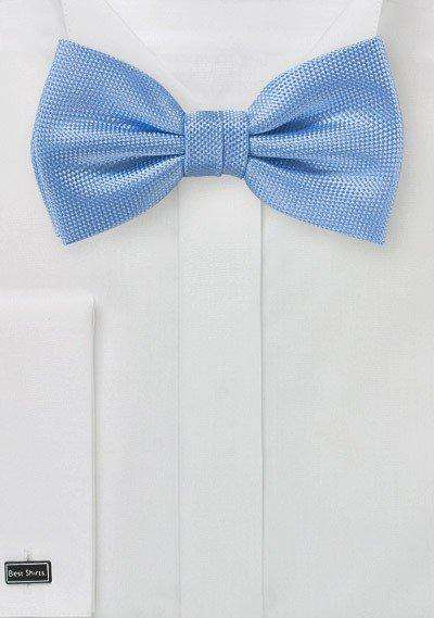 Sky Blue MicroTexture Bowtie