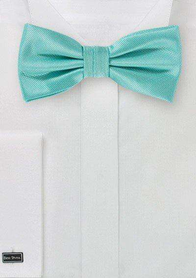 Spa Blue Small Texture Bowtie