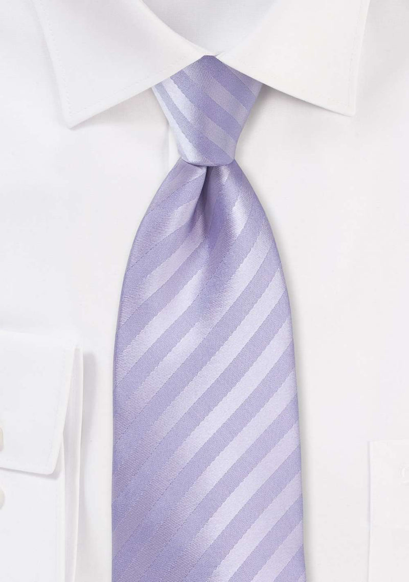 Fresh Lavender Narrow Striped Necktie