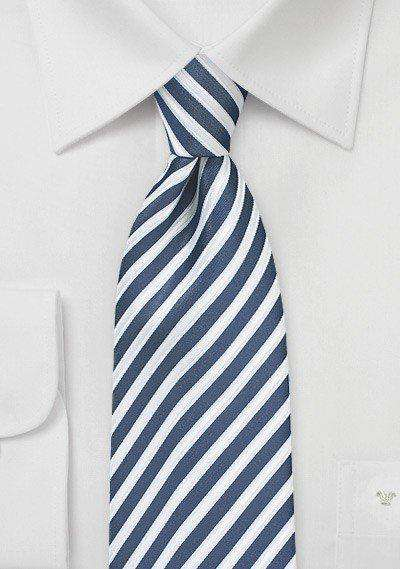 Indigo Summer Striped Necktie