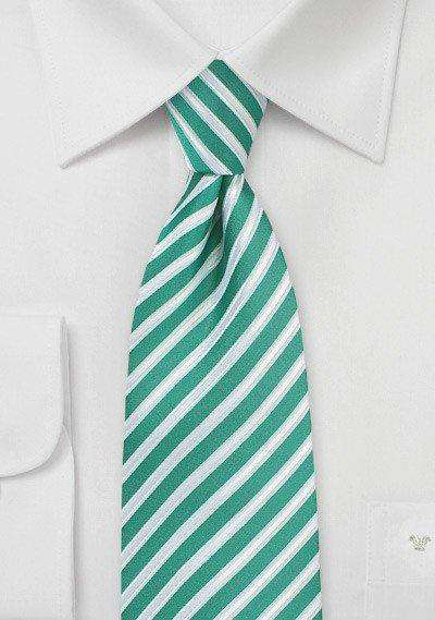 Sea Green Summer Striped Necktie