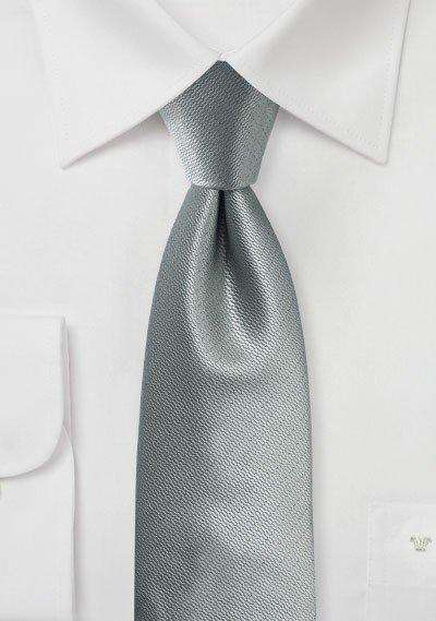 Formal Silver Small Texture Necktie - Men Suits