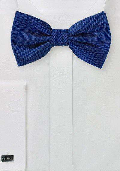 Marine Blue MicroTexture Bowtie - Men Suits