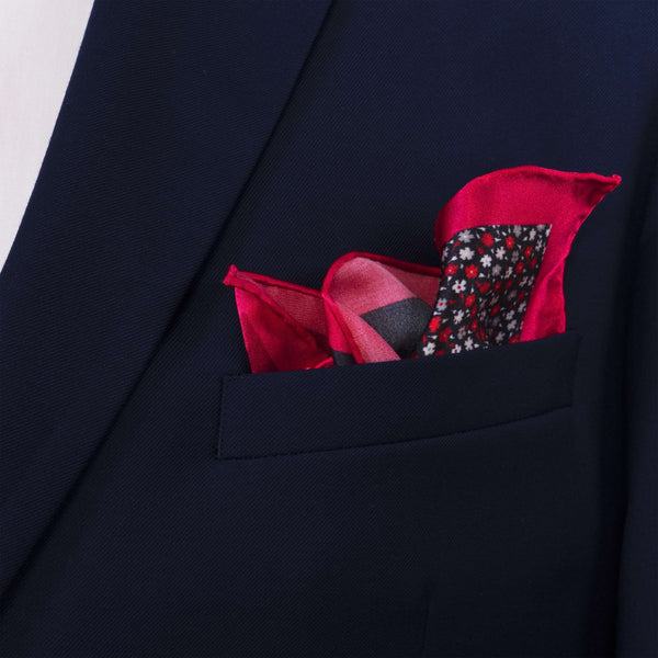 Touch of Floral Pocket Square - Men Suits