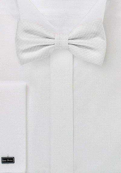 Ivory Pin Dot Bowtie - Men Suits