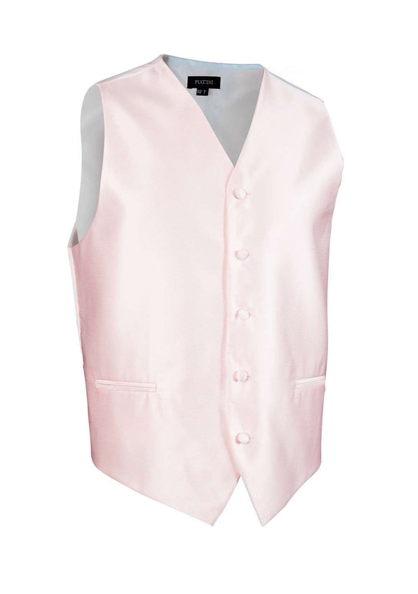 Blush Pink Solid Vest - Men Suits