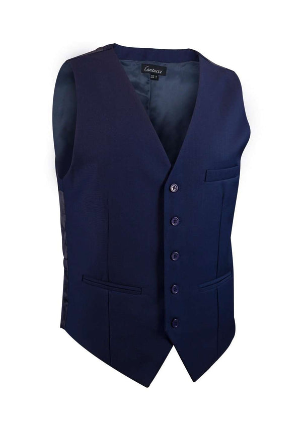Midnight Blue Solid Vest