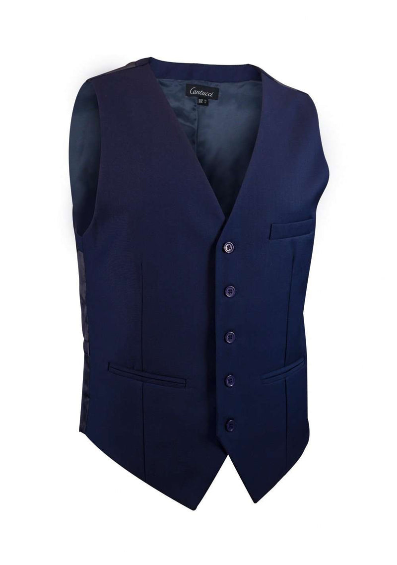 Midnight Blue Solid Vest - Men Suits