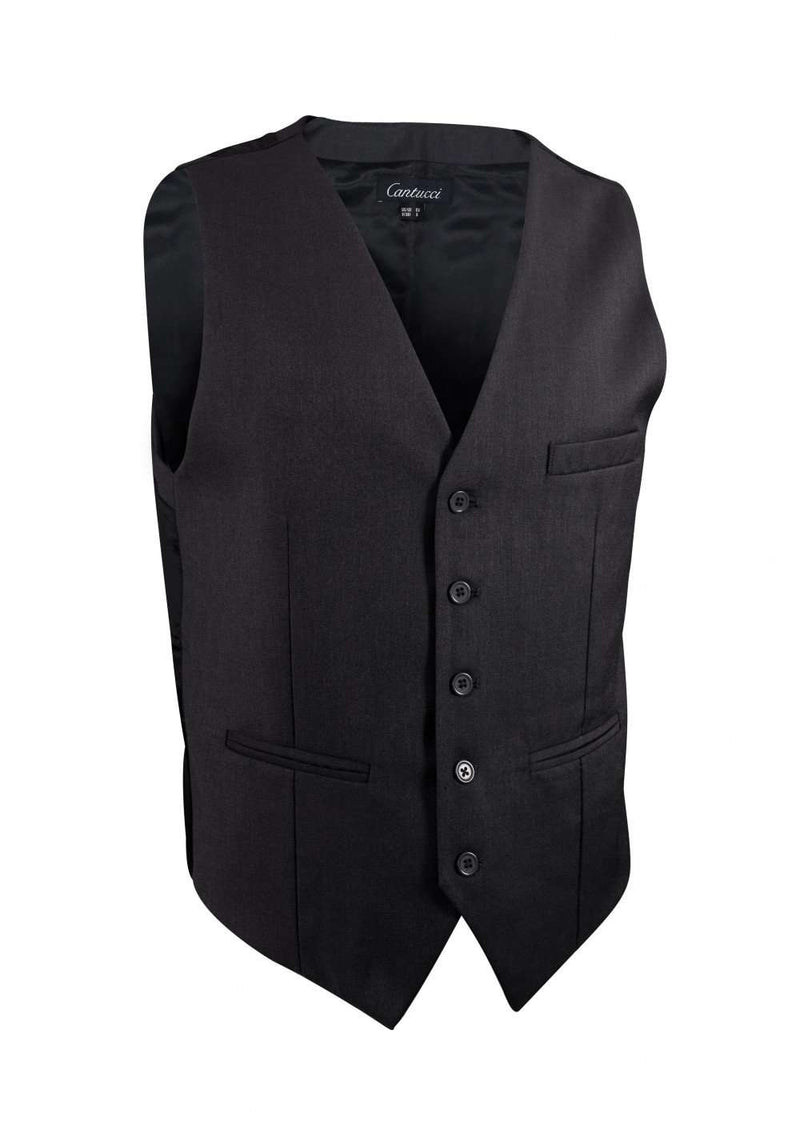 Charcoal Solid Vest