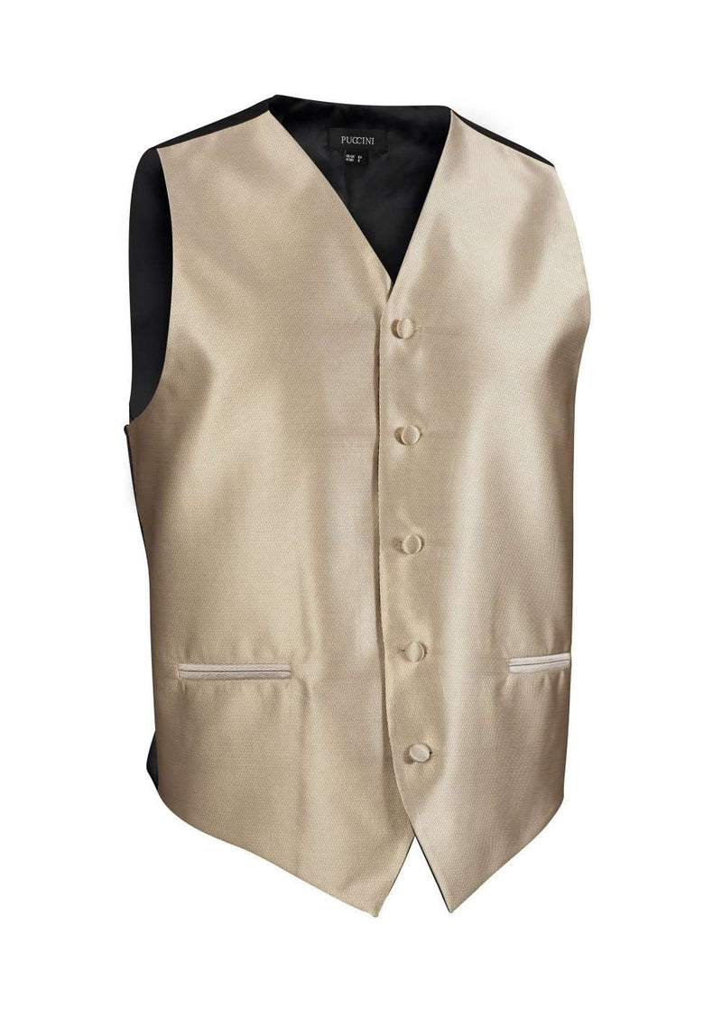 Golden Solid Vest - Men Suits