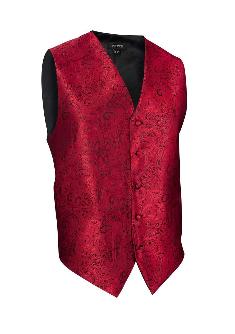 Ruby Red Proper Paisley Vest