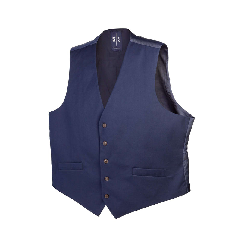 Modern Navy Vest - Men Suits