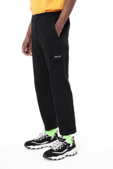 Solas Black Cargo Trousers