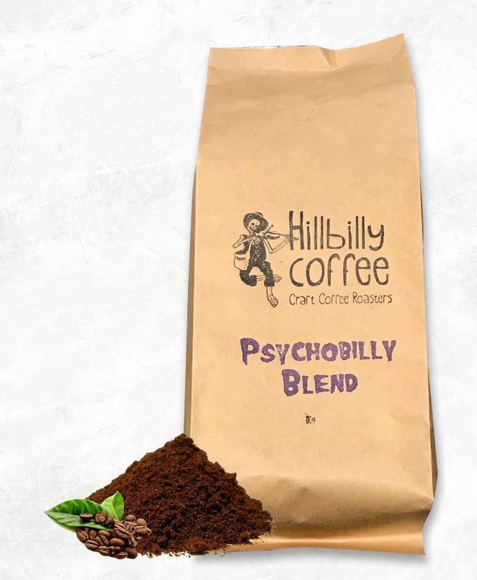 Hillbilly Coffee Psychobilly Blend Coffee Beans 250G BAG Mornington Peninsula