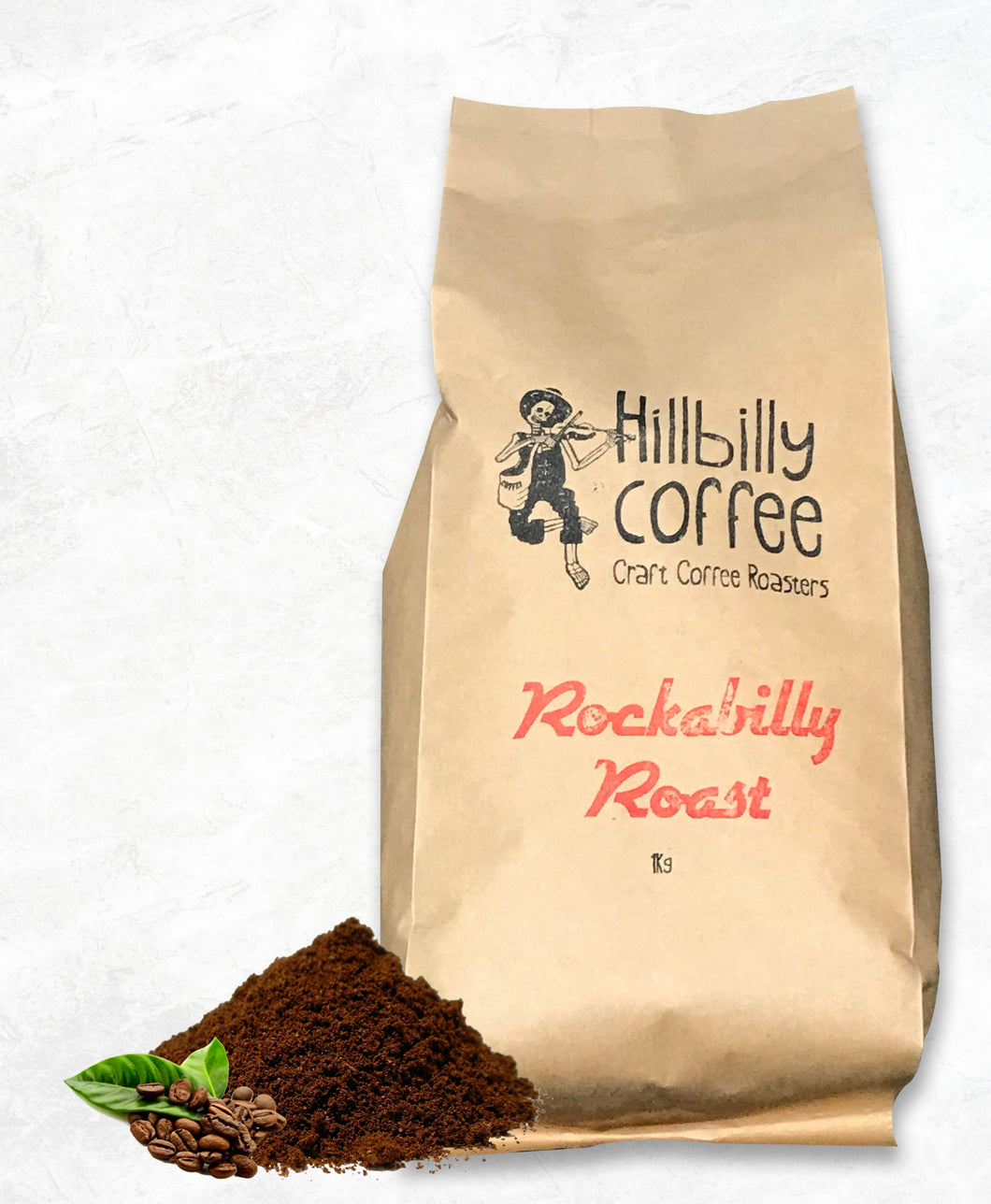 Hillbilly Coffee Rockabilly Roast Coffee Beans 1KG BAG Mornington Peninsula