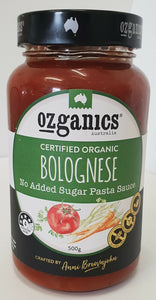 Ozganics - Spring Vegetable/Bologense Simmer Sauce 500g Per Jar