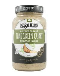 Ozganics - Thai Green Curry Simmer Sauce 500g Per Jar