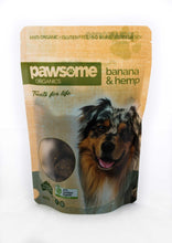 Load image into Gallery viewer, Pawsome Organics - Banana & Hemp Dog Treats 250gm