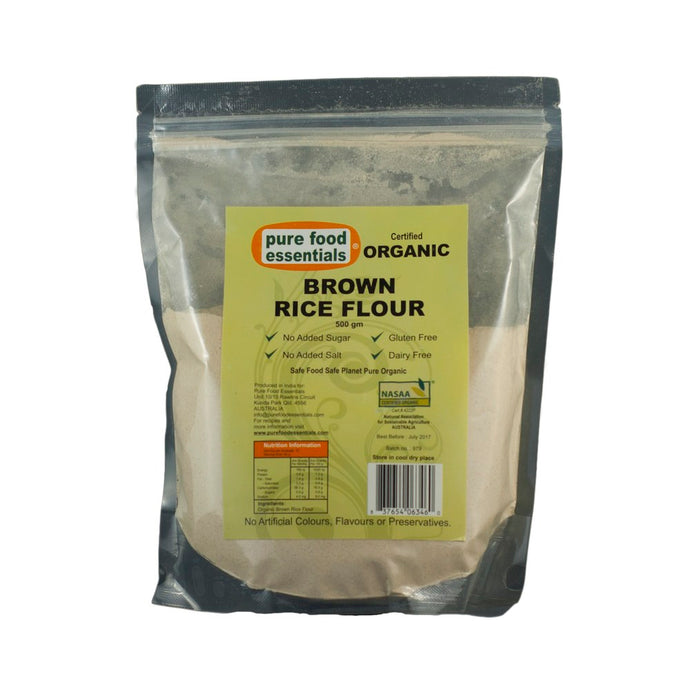 Pure Food Essentials - Brown Rice Flour 500g Per Packet