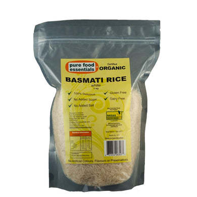 Pure Food Essentials - Basmati Rice 1kg Per Packet