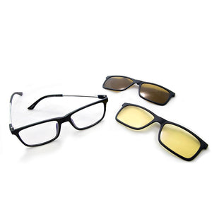 Eagle Eyes Wayfarer Lentes de Sol SuperSights Set 3 en 1