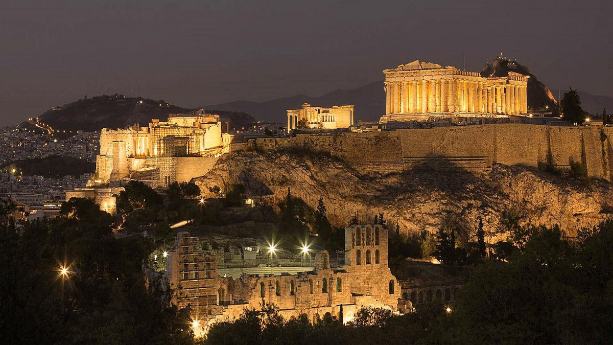 Historic Athens Electric Bike tour by Night with Food & Refreshments | eBike Tour.