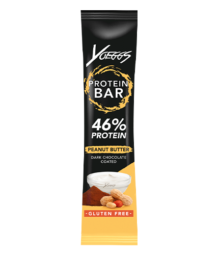 Yoeggs protein bar peanut butter
