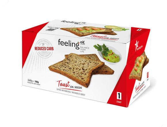 Toast con semi - Pane proteico low carb 200g - Stage 1