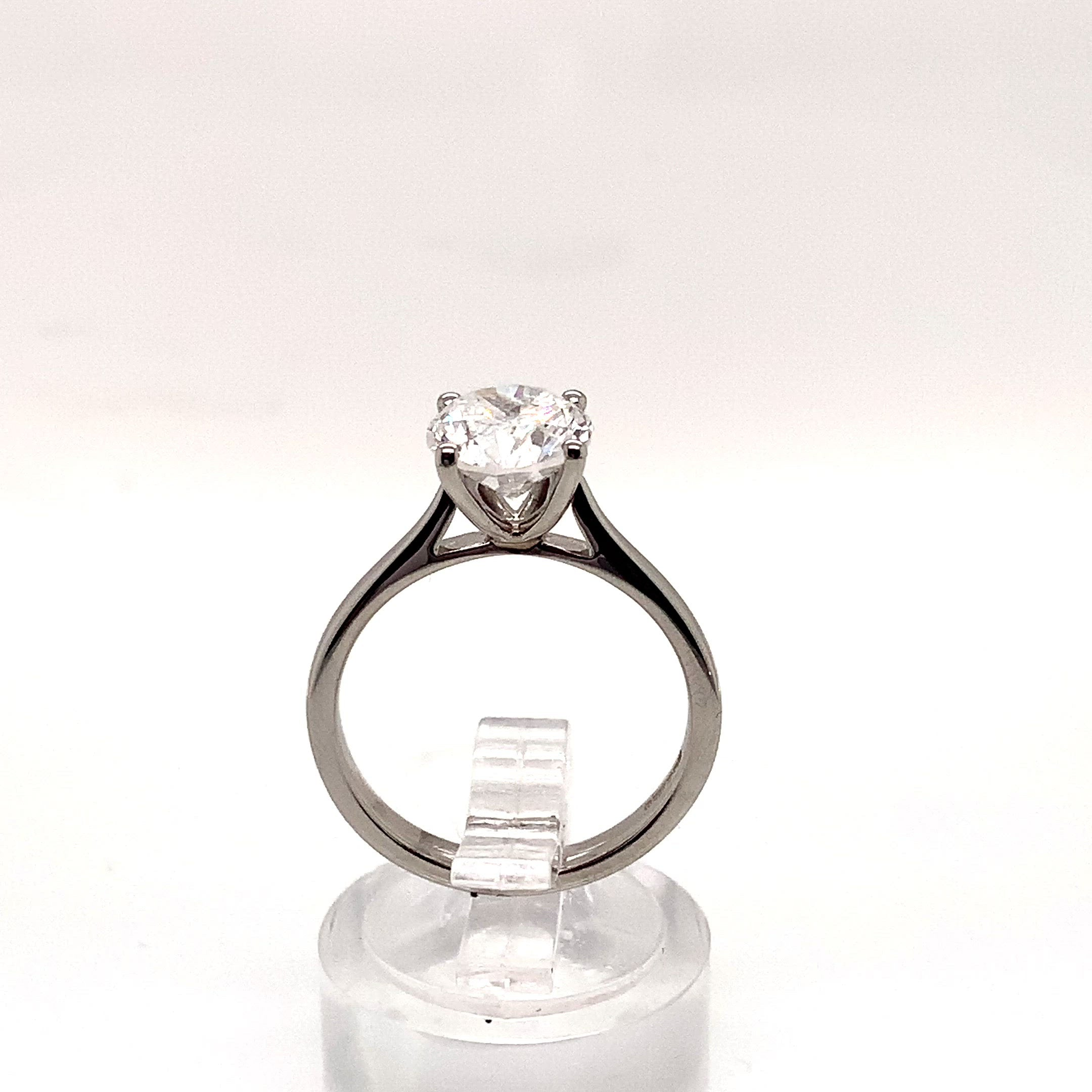 Platinum 2.00ct Diamond 4 Claw Solitaire D/SI3