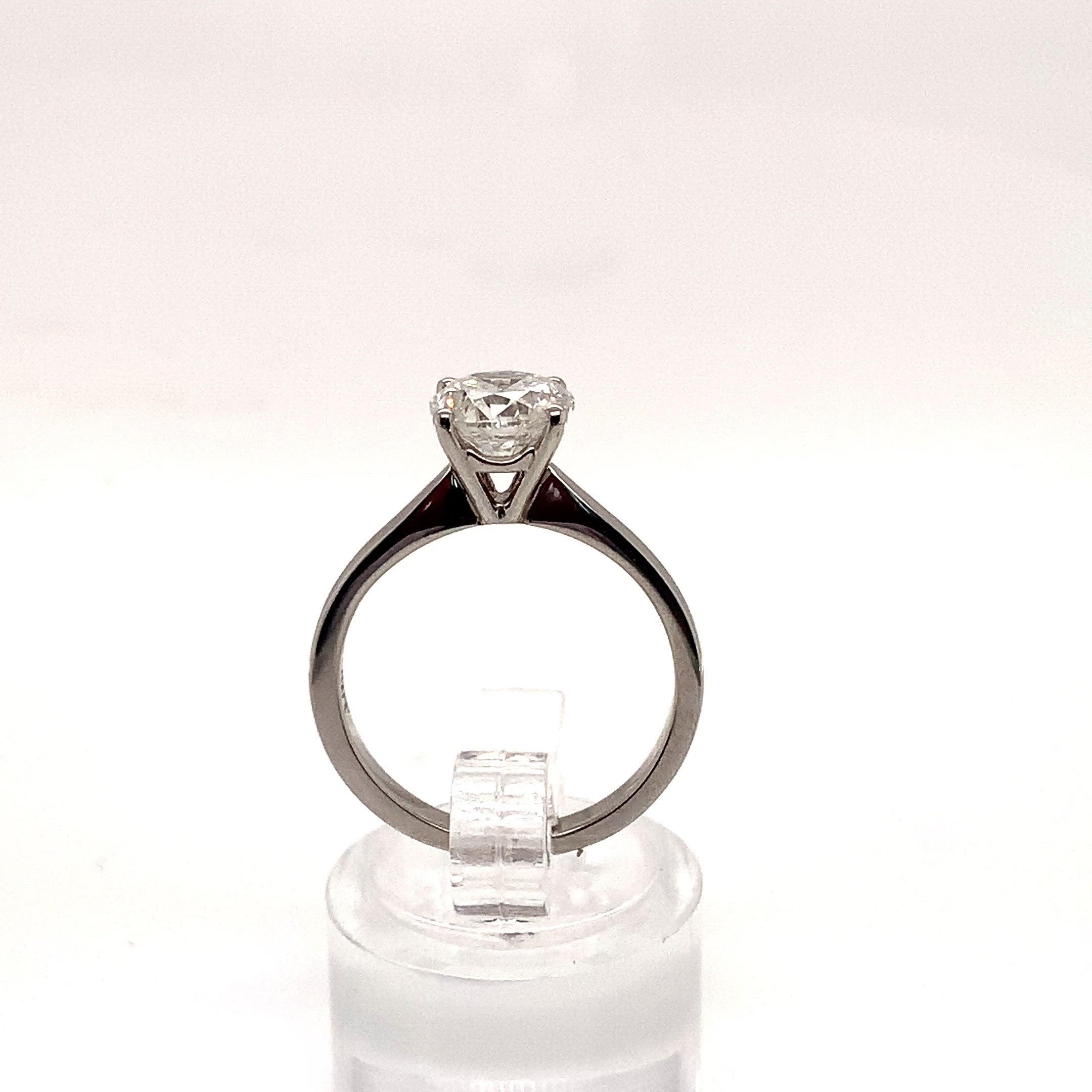 Platinum 1.53ct Diamond 4 Claw Solitaire F/I1