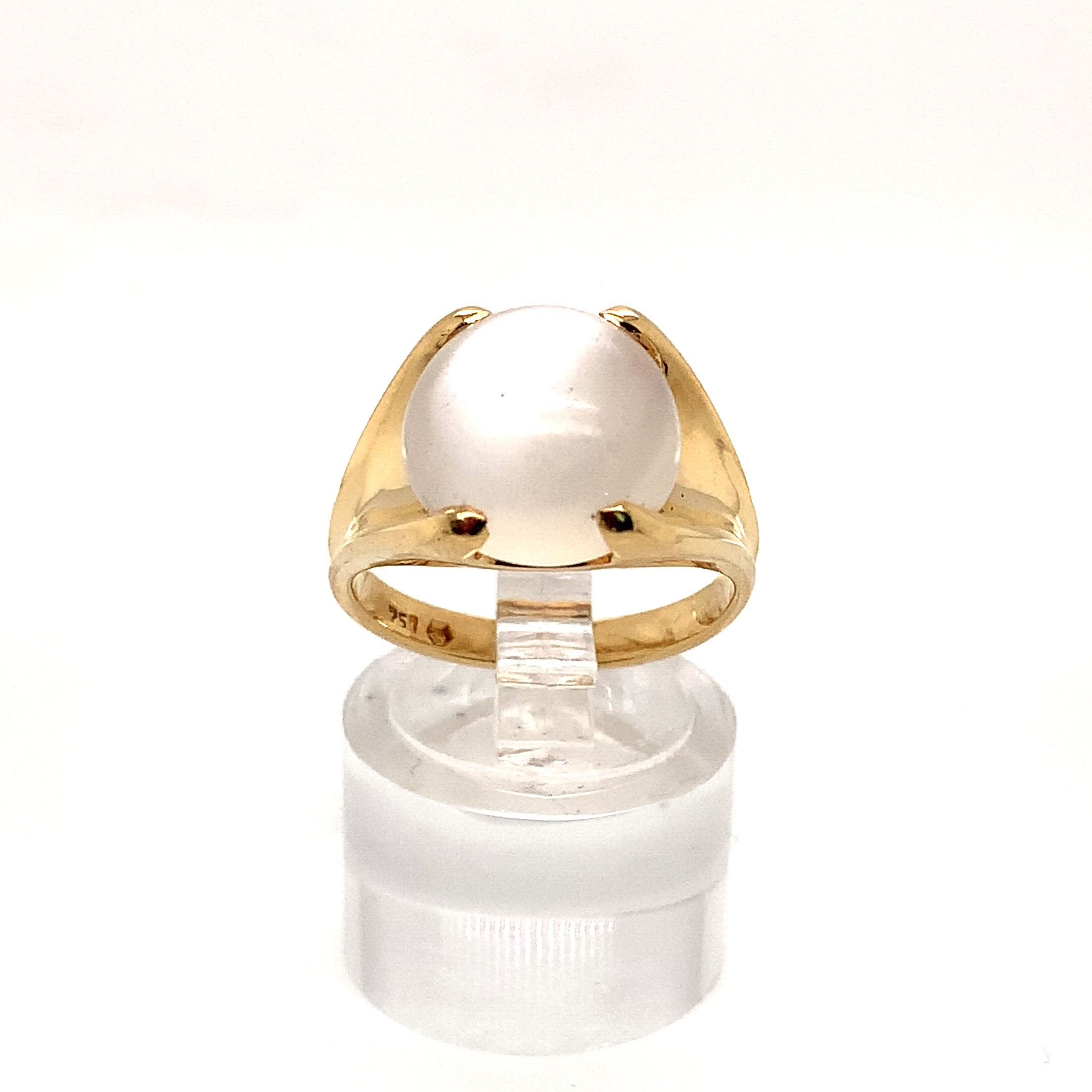 18ct Yellow Gold Moonstone Dress Ring