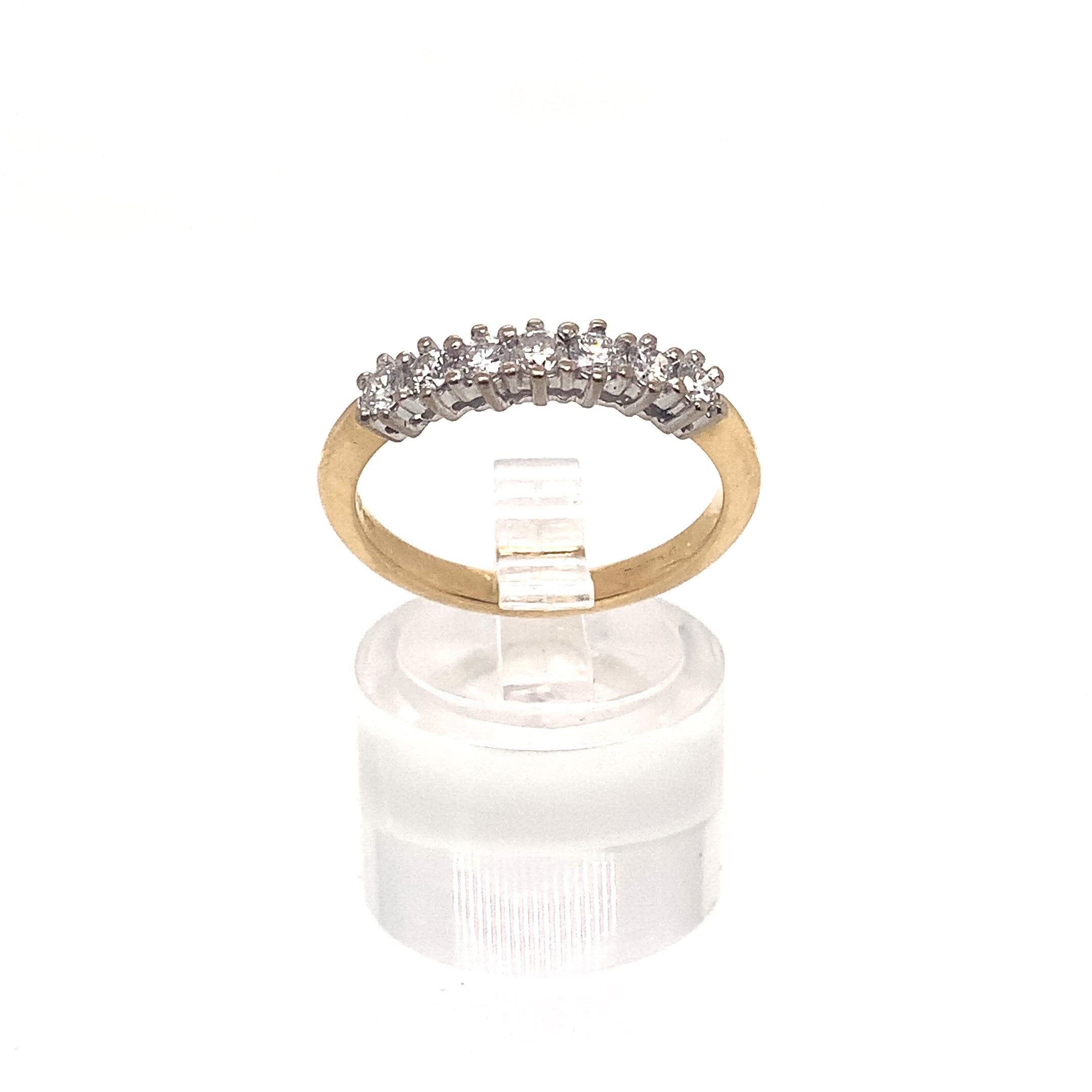 18ct Yellow Gold 7 Stone Dia Ring