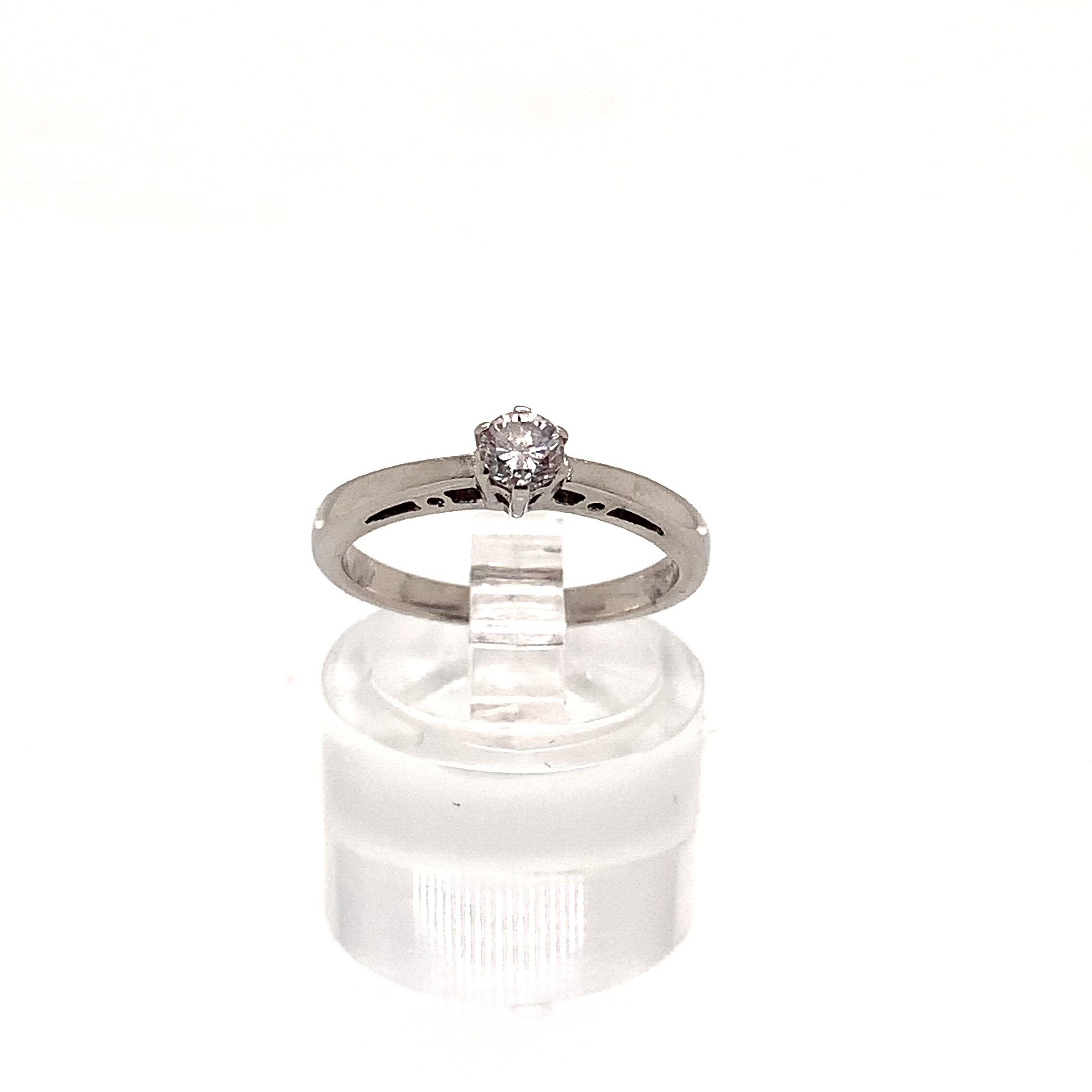 9ct White Gold 0.20ct Diamond Solitaire Ring