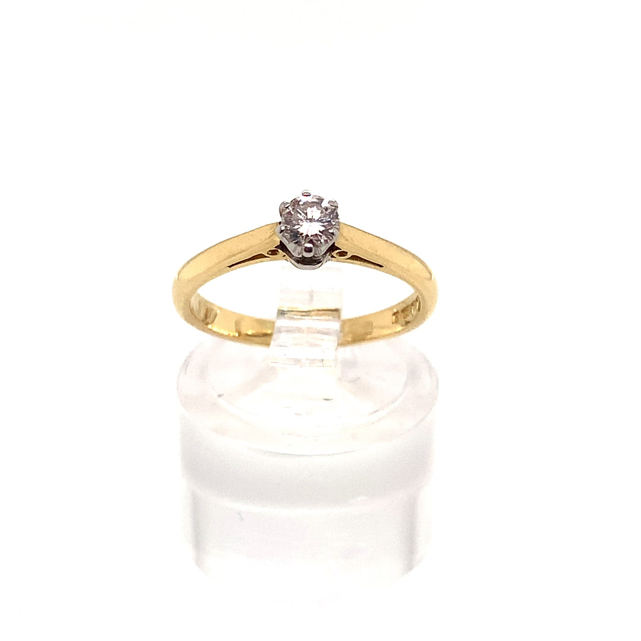 18ct Yellow Gold 0.17ct Diamond Solitaire