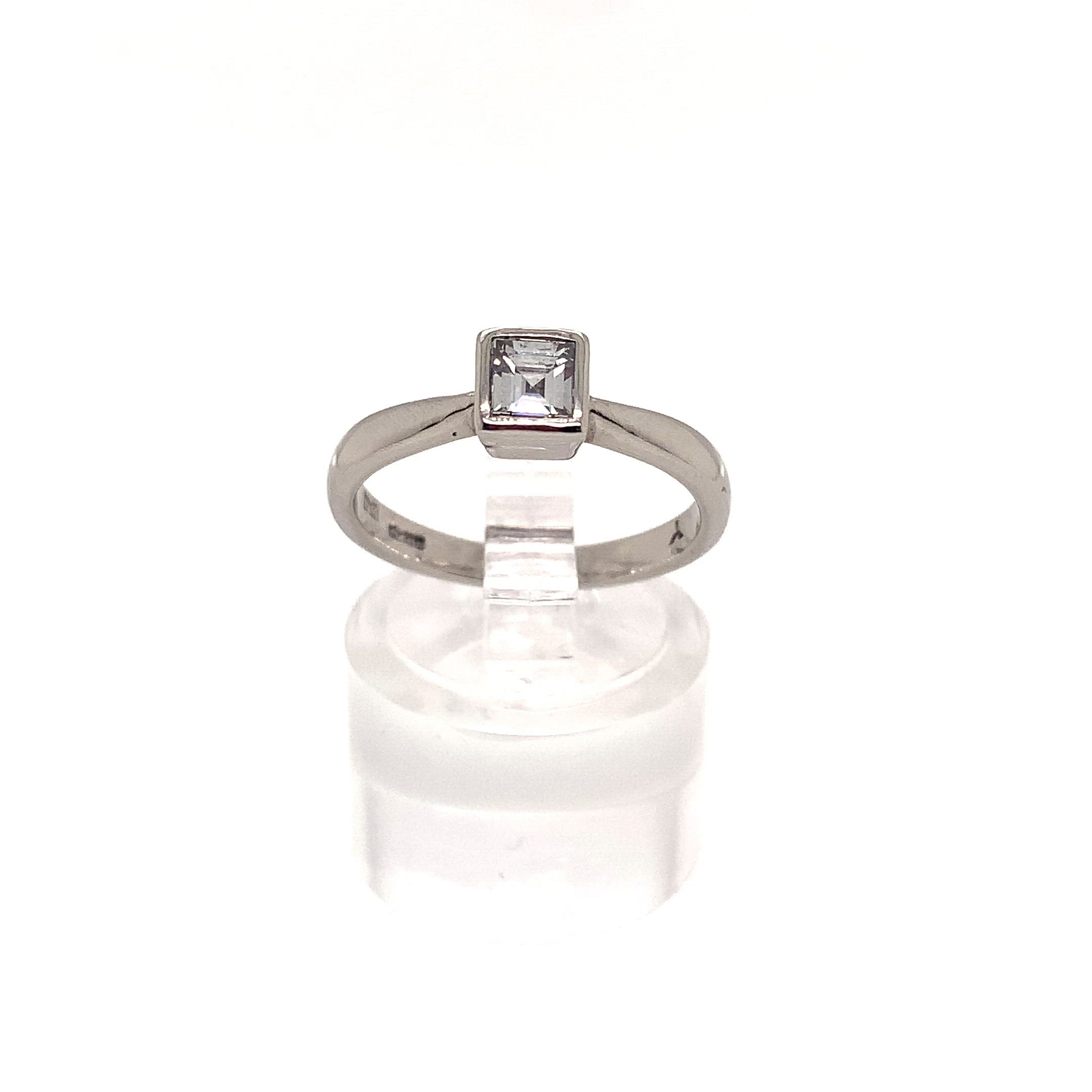 0.50ct Square Cut Solitaire Diamond Ring