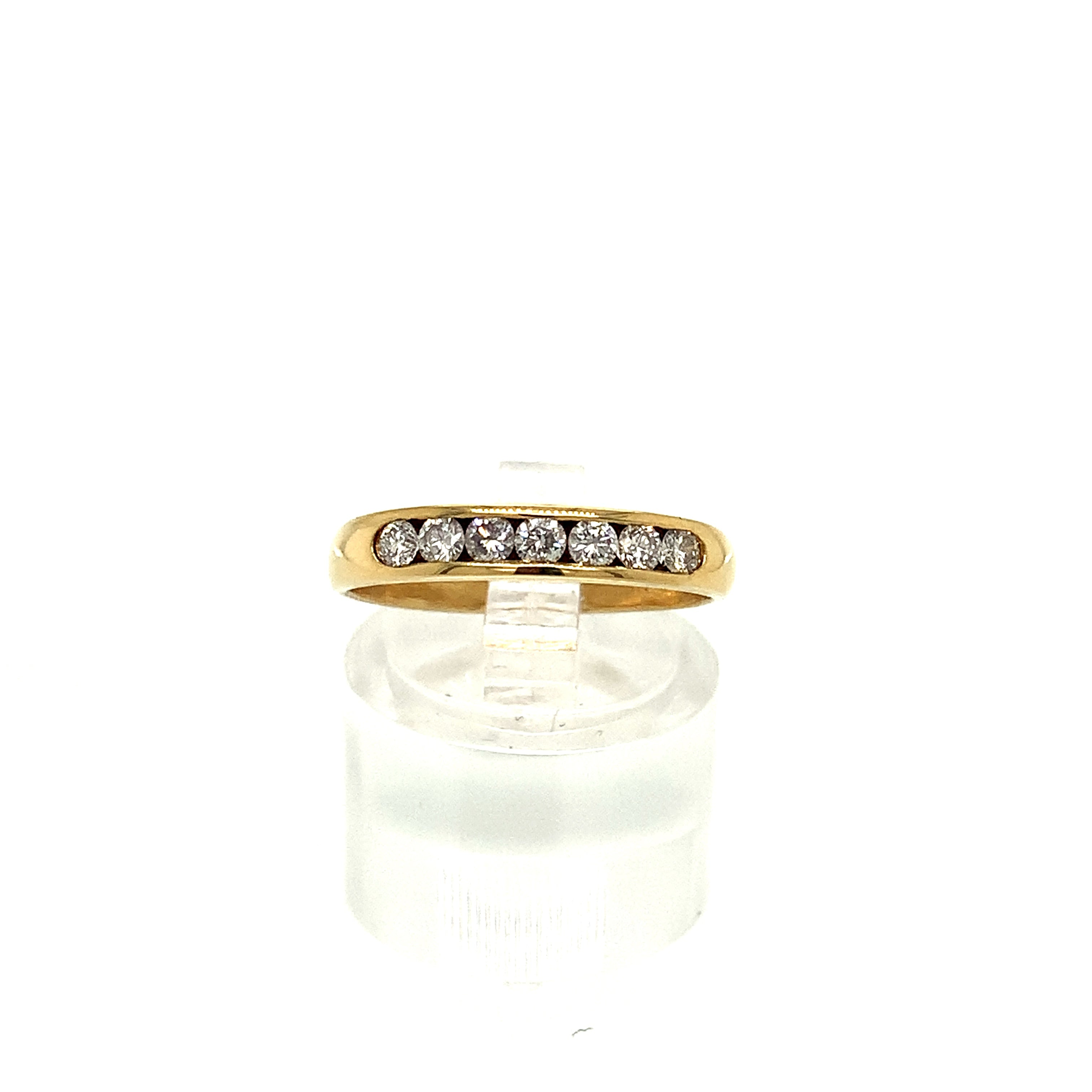 18ct Yellow Gold Channel Set Half Eternity 0.33ct