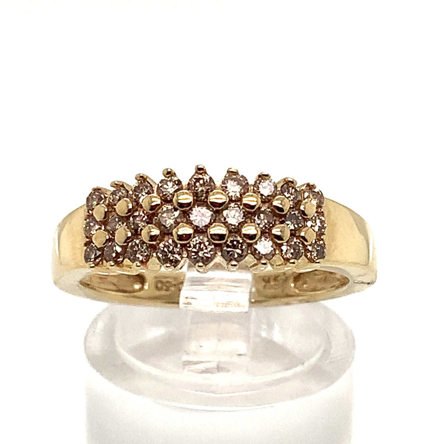 0.50ct Three Row Diamond Ring