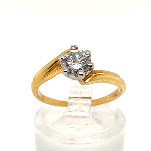0.56ct Diamond Solitaire Twist Ring