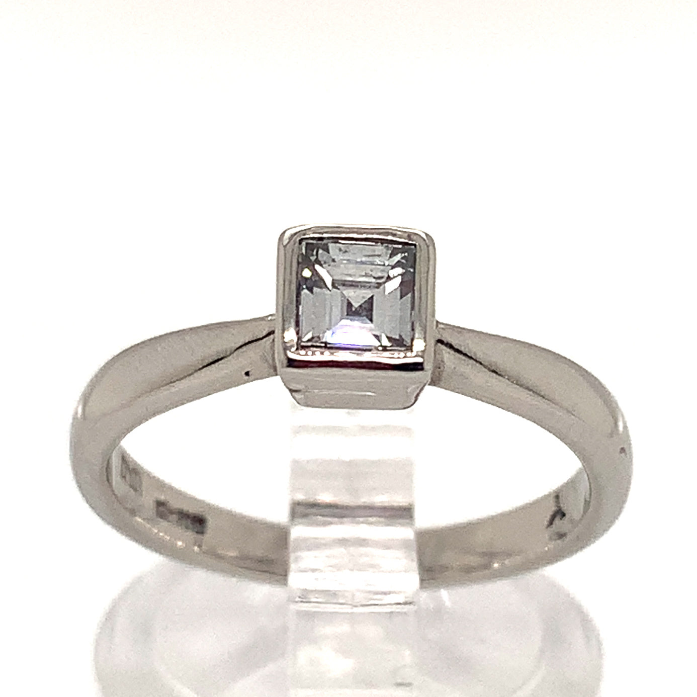 0.50ct Square Cut Diamond Solitaire Ring