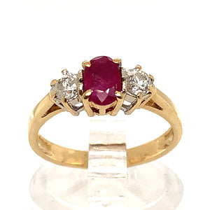 Three Stone Ruby & Diamond Trilogy Ring