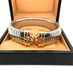 Load image into Gallery viewer, BVLGARI Parentesi Tubogas Cuff Bangle 18ct Gold & Stainless Steel