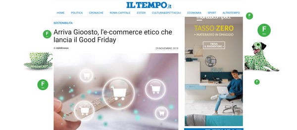 Arriva Gioosto, l'e-commerce etico che lancia il Good Friday | Il Tempo