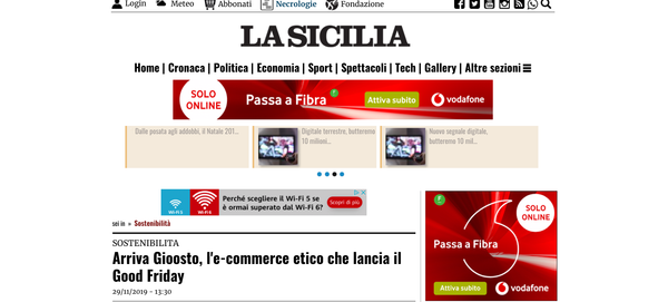 Arriva Gioosto, l'e-commerce etico che lancia il Good Friday | La Sicilia