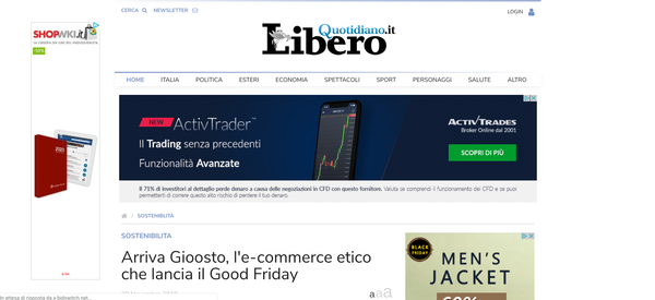 Arriva Gioosto, l'e-commerce etico che lancia il Good Friday | Libero Quotidiano