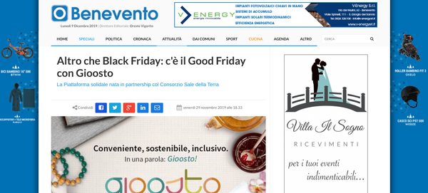 Altro che Black Friday: c'è il Good Friday con Gioosto | Otto Pagine