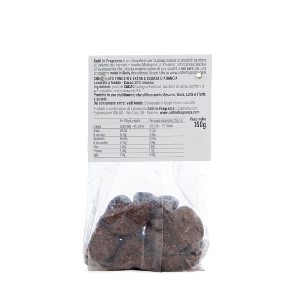 Cotti in Fragranza - IUBI all'Arancia Cioccolatini fondenti con scorze d'arancia - 150 gr retro